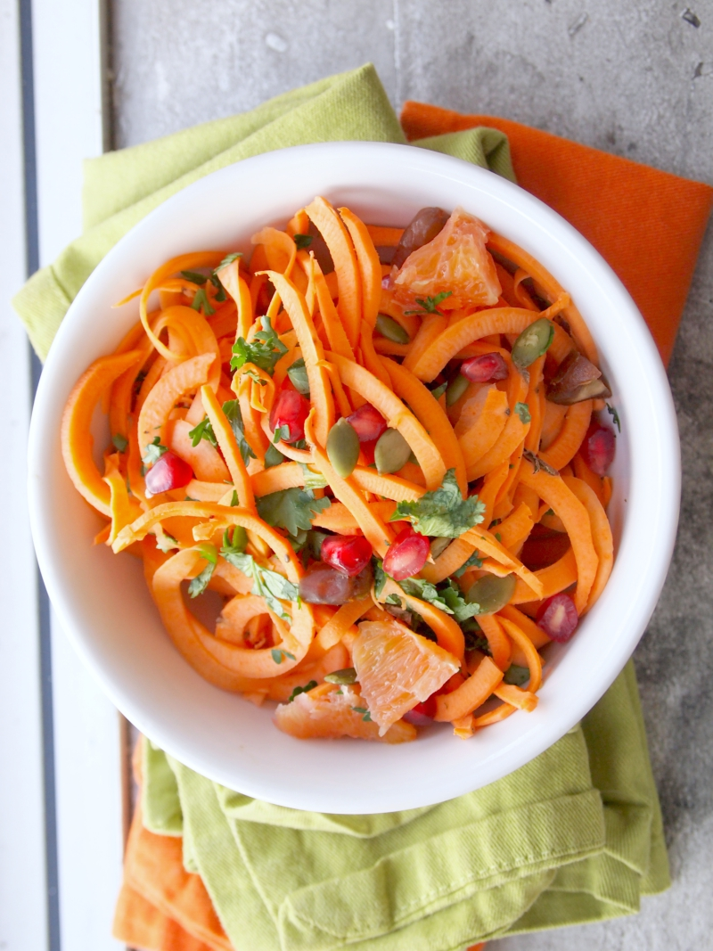This healthy vegan and gluten-free recipe will show you how easy it is to make raw sweet potato noodles taste good.